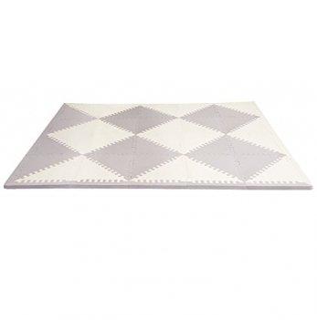 Игровой коврик-пазл Skip Hop Playspot Geo Grey/Cream