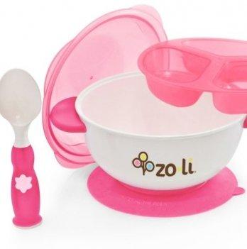 Набор посуды для детей ZoLi STUCK  Pink