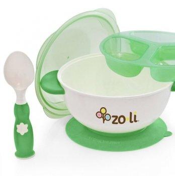 Набор посуды для детей ZoLi STUCK Green