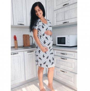 Сорочка для беременных и кормящих To Be Серый меланж 4103024
