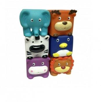 Набор игрушек для ванны Зверята-кубики Baby Team 9050, 6 шт