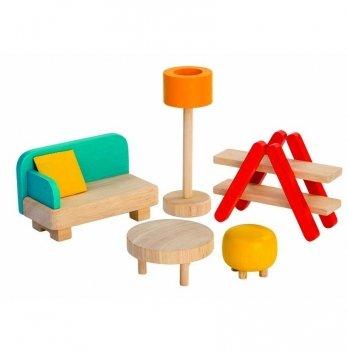 Деревянный игровой набор PlanToys® Гостиная, 7347