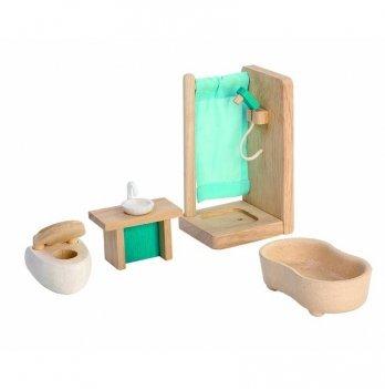 Деревянный игровой набор PlanToys® Ванная комната, 7351