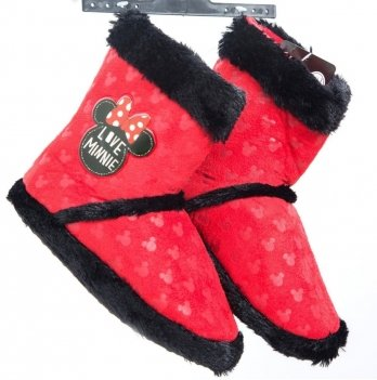 Тапочки сапожки Disney Минни Маус красные