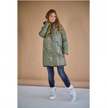 Зимняя куртка для беременных To Be Хаки 3044273