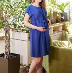 Платье для беременных и кормящих мам MySecret Rossa DR-29.051 синий