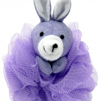 Мочалка-зверюшка Зайчик BABY TEAM 7406 фиолетовый