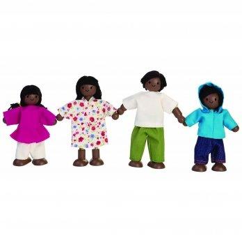 Деревянный игровой набор PlanToys® Кукольная этническая семья