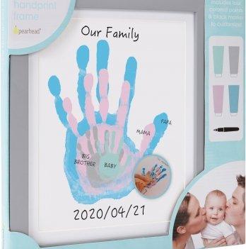 Подарочный набор для отпечатков Моя семья Pearhead P63024 серый