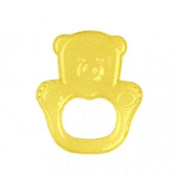 Прорезыватель с гелем BabyOno Медвежонок, желтый