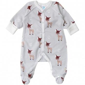 Человечек для новорожденных Minikin Малышка Лань серый