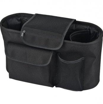 Сумка-органайзер Bugs для детской коляски, черная