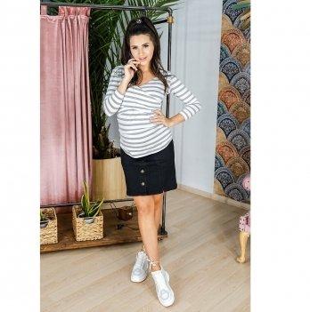 Джинсовая юбка для беременных To Be Черный варка Софт 4119693-6