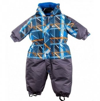 Комбинезон зимний для мальчика Gusti, 2594 SWB, серый/голубой/оранжевый