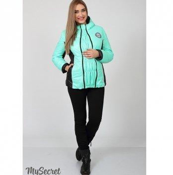 Куртка демисезонная для беременных MySecret Lemma OW-17.012 мятный/черный