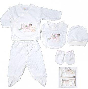 Комплект для новорожденного Bebitof Baby, в коробке, 5 предметов, 793, белый