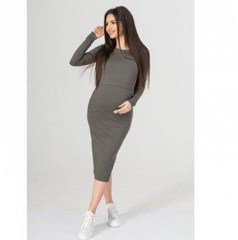 Платье для беременных и кормящих To Be Хаки 4139001