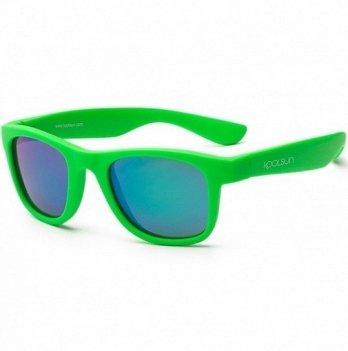 Детские солнцезащитные очки Koolsun серии Wave, размер 1+, неоново-зеленые