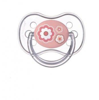 Пустышка силиконовая симметричная Canpol babies Newborn baby 0-6 мес Розовый 22/580