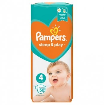 Подгузники Pampers Sleep & Play Размер 4 (Maxi) 9-14 кг 50 шт