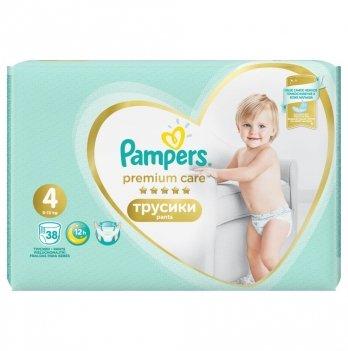 Трусики Pampers Premium Care Размер 4 (Maxi) 9-15 кг 38 шт
