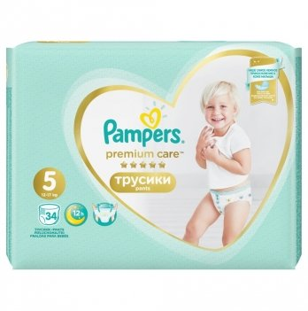 Трусики Pampers Premium Care Размер 5 (Junior) 12-17 кг 34 шт