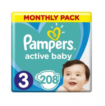 Подгузники детские Pampers Active Baby Размер3 6-10 кг 208 шт