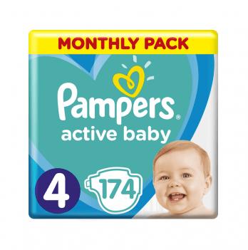 Подгузники детские Pampers Active Baby Размер4 9-14 кг 174 шт