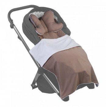 Вкладыш в коляску Puer Brown с подушкой, коричневый