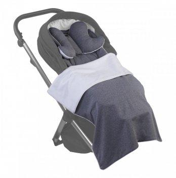 Вкладыш в коляску Puer Grey с подушкой, серый