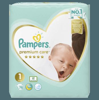 Подгузники Pampers Premium Care Размер 1 2-5 кг 78 шт