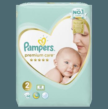 Подгузники Pampers Premium Care Размер 2 4-8 кг 68 шт