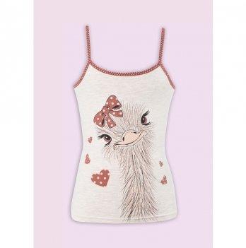 Комплект белья для девочки Flavien майка+трусы, персиковый меланж