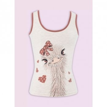 Комплект белья для девочки Flavien майка+трусы-шорты, персиковый меланж