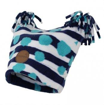 Шапка флисовая детская Huppa WILLIAM, темно-синий узор
