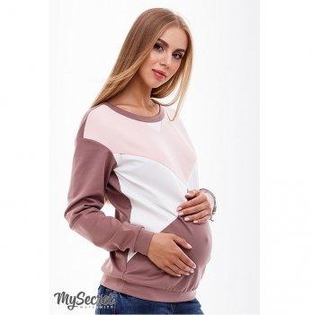 Свитшот для беременных и кормящих мам MySecret Cat SW-38.031 капучино