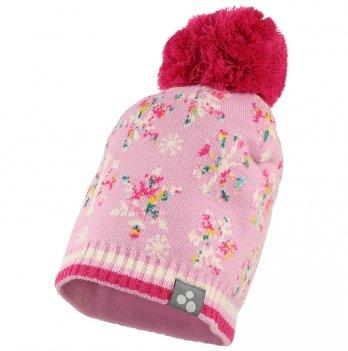 Шапка вязаная для девочки Huppa FLAKE, розовый узор