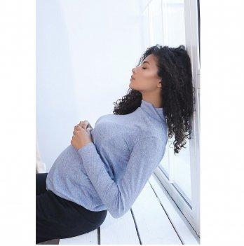Джемпер для беременных и кормящих To Be Голубой 4131050