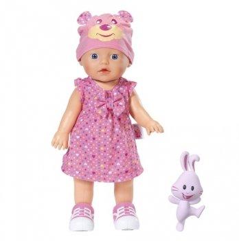 Кукла интерактивная MY LITTLE BABY BORN Zapf Creation, УЧИМСЯ ХОДИТЬ (32 см, с погремушкой, ходит, озвучена)