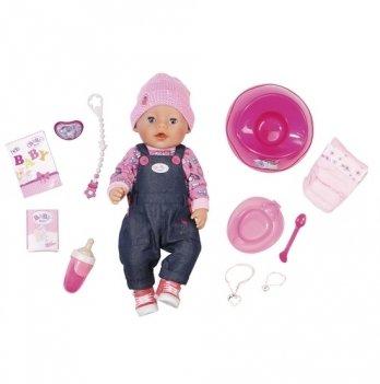 Кукла BABY BORN Zapf Creation, Джинсовый стиль (43 см, с аксессуарами)