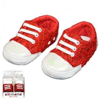 Пинетки для малышки, красные, возраст от 5 до 12 месяцев, Albimama