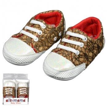 Пинетки для малышки, коричневые, возраст от 5 до 12 месяцев, Albimamа