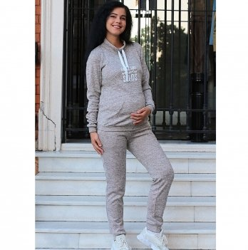Спортивный костюм для беременных и кормящих To Be Пудровый 4143652