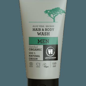 Органическое мужское средство для мытья волос и тела Urtekram, 150 мл