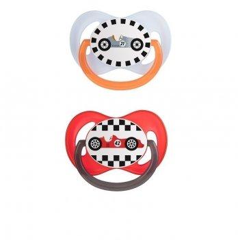 Пустышка силиконовая симметрическая Canpol babies Racing 18+ мес 22/636 2 шт