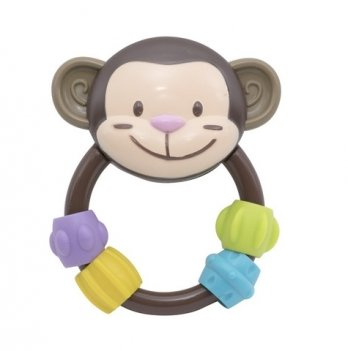 Погремушка Baby Team Любимые зверушки 8403 обезьянка