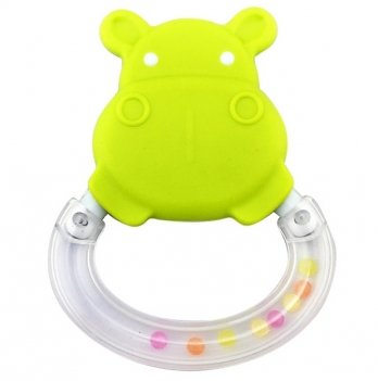 Погремушка-прорезыватель Baby Team 8447 Бегемотик зеленый