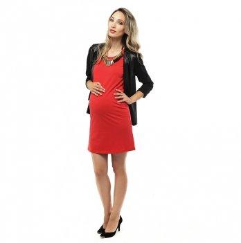 Платье для беременных 2 в 1 Love & Carry LCM1002 миди красный