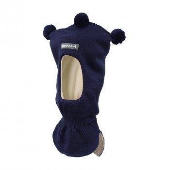 Вязаная шапка-шлем для малышей Huppa Coco 60086 темно-синий