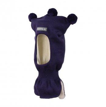 Вязаная шапка-шлем для малышей Huppa Coco 70073 темно-лилoвый